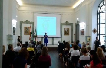 Press Conference for Second International Day of Yoga in Embassy of India, Rome (8.6.2016)