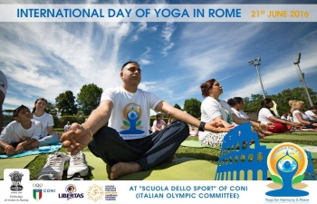 INTERNATIONAL DAY of YOGA at CONI in Rome (21/6/16)