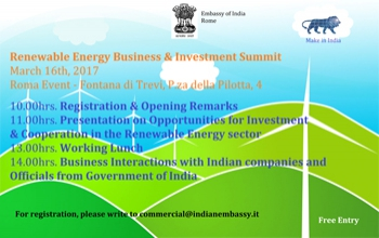 Renewable Energy Business & Investment Summit (16 March 2017)