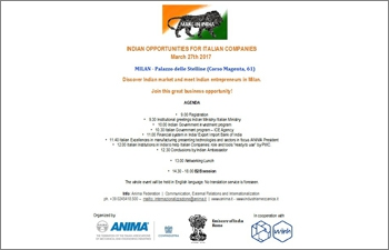ANIMA � India Business & Investment Meet (Milan, March 27th, 2017)