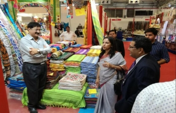 Ambassador of India Mrs Reenat Sandhu inaugurated India Pavilion at Fiera del Levante (Bari) on September 9, 2017
