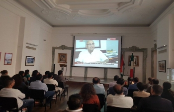 Birth centenary of Pandit Deen Dayal Upadhyaya celebrated at the Embassy of India, Rome.