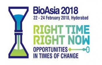 15th edition of BioAsia 2018, Hyderabad India, 22nd - 24th February 2018