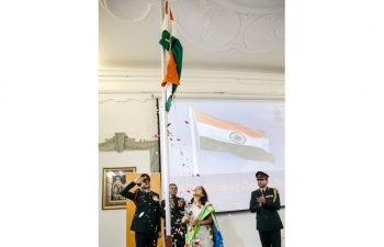 Flag Hoisting Ceremony organized by Embassy of India, Rome on January 26, 2018