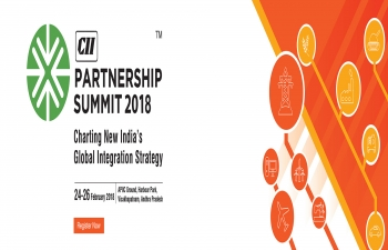 THE PARTNERSHIP SUMMIT  Charting New Indias Global Integration Strategy from 24-26 February 2018, Visakhapatnam, Andhra Pradesh.