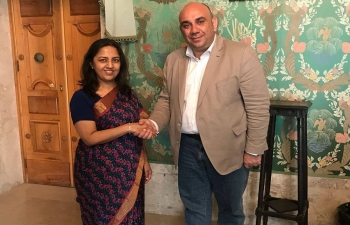 April 24th: Ambassador Reenat Sandhu called on the Mayor of Siracusa, Mr. Giancarlo Garozzo.