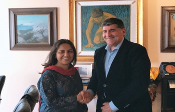 Ambassador Reenat Sandhu met the Mayor of Taormina, Dr. Eligio Giardina to discuss possibilities of cooperation.