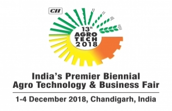 Confederation of Indian Industry (CII) is organizing the 13th edition of Agro Tech from 1– 4 December 2018 in Chandigarh, India.