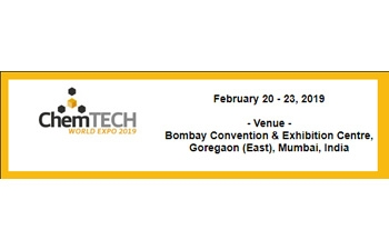 29th edition of CHEMTECH+PHARMA World Expo from February 20th – 23rd, 2019 in Bombay Exhibition Centre Goregaon (East), Mumbai.