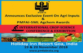 13th Agrochemical Exhibition in Goa India on November 19th & 20th 2018