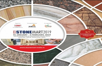 10th edition of StoneMart 2019 at JECC, Jaipur, India from Jan. 31st to Feb. 3rd. 2019.