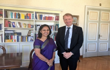 Aug 1st: Ambassador Reenat Sandhu met Senator Lucio Malan to discuss India's growing partnership with Italy.