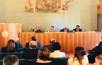 Jul 13th: Indian opportunities for Trade & Investment for Italian SMEs: A Forum jointly addressed by Mr. Shyam Chand C, Head of Commerce, EoI Rome; Mr. Dimotri Bianchini, General Manager MPS Bank, Mr. Leonardo Focardi, President,  ODCEC Firenze; & Mrs. Carla Saccardi, President, ODCEC, Lucca.