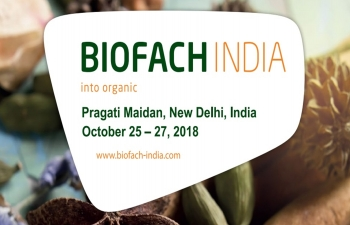 10th edition of Biofach India 2018, October 25-27, 2018, New Delhi