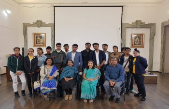 Oct 8th: Ambassador Reenat Sandhu interacts with a group of students from St.Mark's Sr. Sec. Public School, New Delhi on an exchange visit to Italy.
