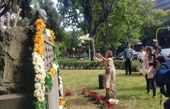 Oct 2nd: Embassy of India, Rome celebrates the 150th Birth Anniversary of Mahatma Gandhi at Piazza Gandhi.