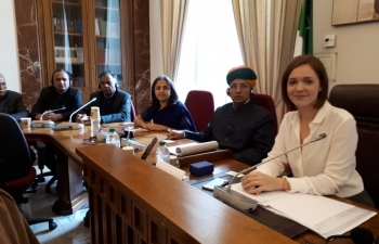 Oct 16th: Goodwill delegation of Indian Parliamentarians had informal meeting with the Foreign Affairs Committee of the Chamber of Deputies of Italy in the presence of President On. Marta Grande & other members. ‬