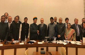 Oct 17th: Goodwill delegation of Indian Parliamentarians had meeting with the Foreign Affairs Committee of Senate alongwith President Sen. Vito Rosario Petrocelli & other members at Palazzo Madama, Rome,Italy.