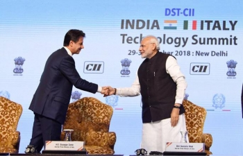 Oct 30th: 24th edition of the DST-CII Technology Summit witnessed great collaborations between India & Italy in science & technology and business. Presence of two world leaders further strengthened the technology-intensive business partnerships.