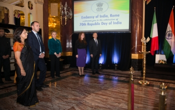 Celebrations in Rome for the 70th Republic Day of India. Applauding India-Italy friendship, partners in progress.