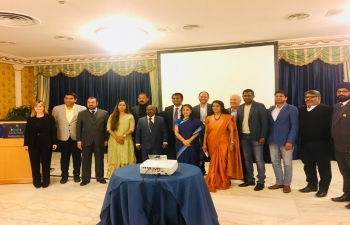 Jan. 31 2019: Ambassador Reenat Sandhu inaugurated the Roadshow conducted by Kerala Tourism in Rome. More than 40 Italian Tour operators took part in the event. There were 10 tourism Stakeholders from Kerala joined the Roadshow to meet up the Italian tour operators.