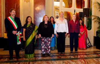 71st Republic Day of India celebrated on January 27,2020 at the presence of Deputy Foreign Minister Ms. Emanuela Del Re, Ministry of Foreign Affairs Secretary General H.E. Elisabetta Belloni, President of India-Italy Parliamentary Friendship Group Ms. Roberta Pinotti, Deputy Mayor of Rome Mr. Luca Bergamo.