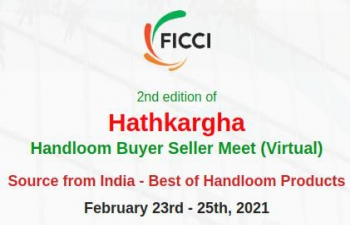 'Hathkargha 2021' Handloom & Handicraft Virtual Buyer Seller Meet from Feb 23 - 25, 2021.