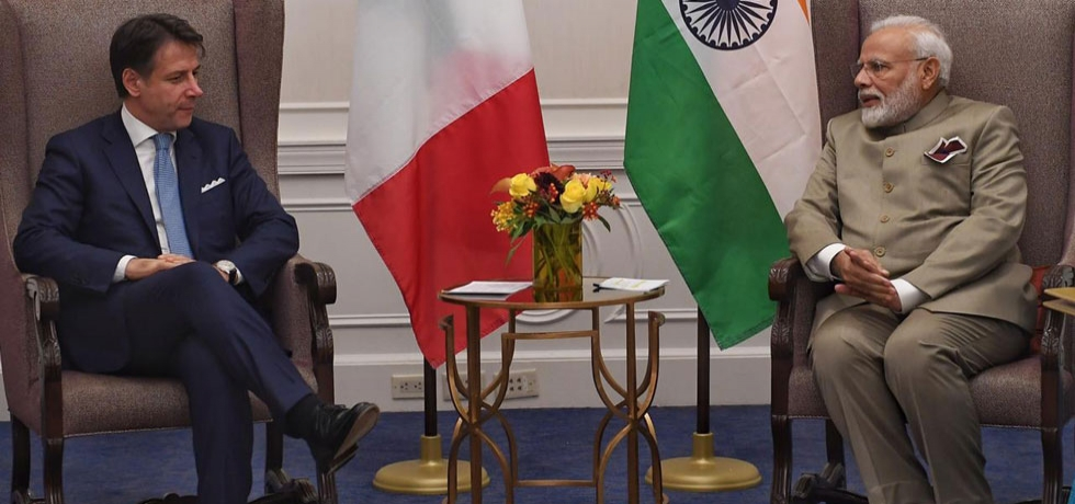 M Narendra Modi met Italian PM on the sidelines of the UN session