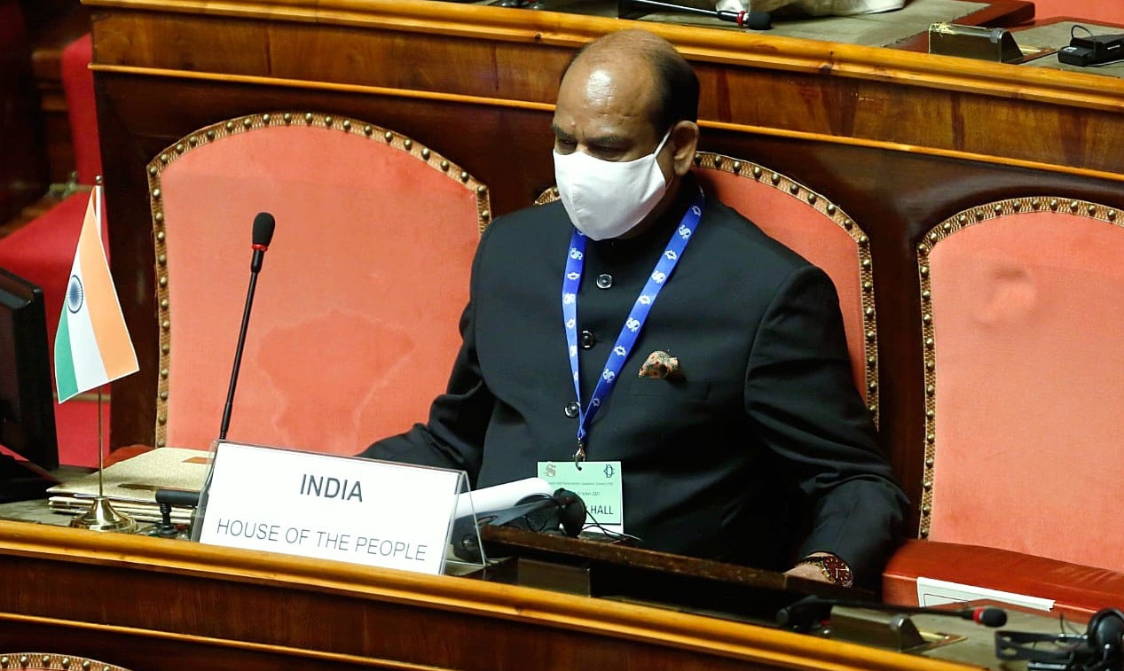 Visit of Hon'ble Speaker of the Lok Sabha on the occasion of G20 Parliamentary Speakers Summit in Rome